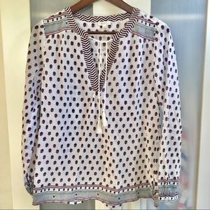 Final - Soft Joie EUC pattern cotton tunic blouse